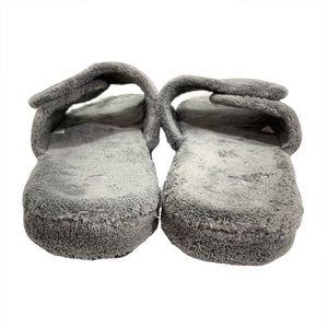 Acorn Shoes - Acorn Plush Bath Spa Slippers Gray Size 12/13